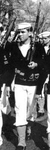 Marinero Patricio Barroilhet en la parada militar en septiembre de 1971 ante Salvador Allende en Santiago